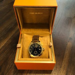 Tory Burch Collins Ladies Watch with Blue Dial